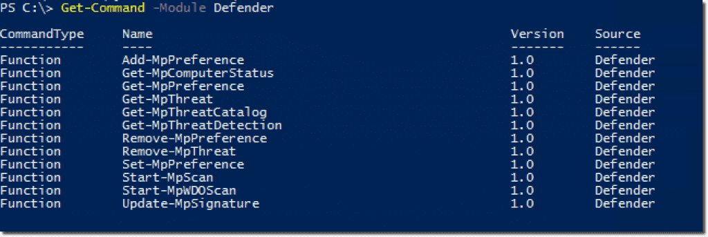 Using the Windows Defender PowerShell cmdlets – 4sysops