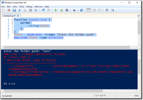 Validating file and folder paths in PowerShell parameters