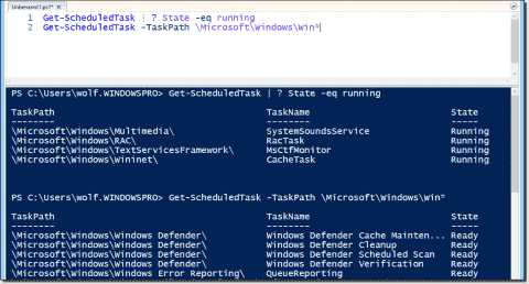 Displaying, running, and stopping scheduled tasks with PowerShell