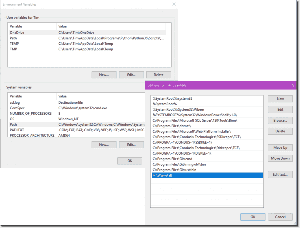 Add wuinstall.exe to your system PATH