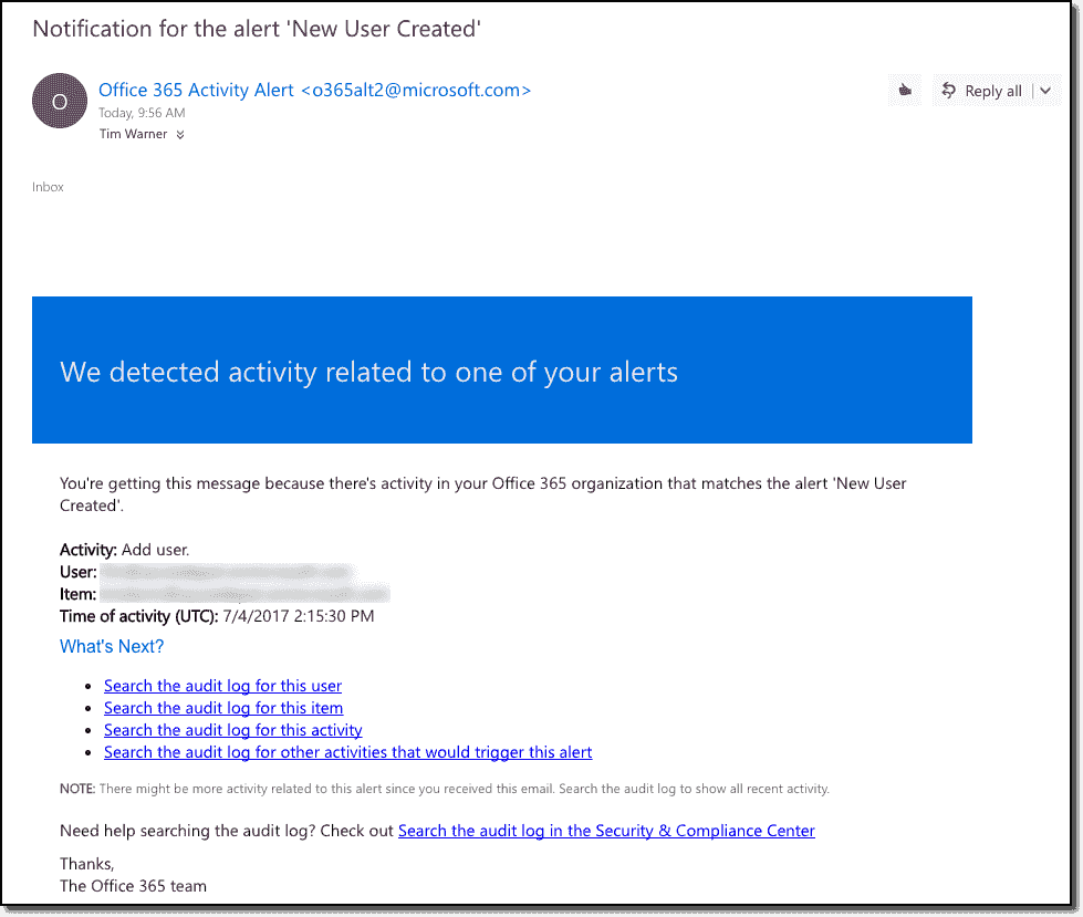 Office 365 Security and Compliance Center – 4sysops