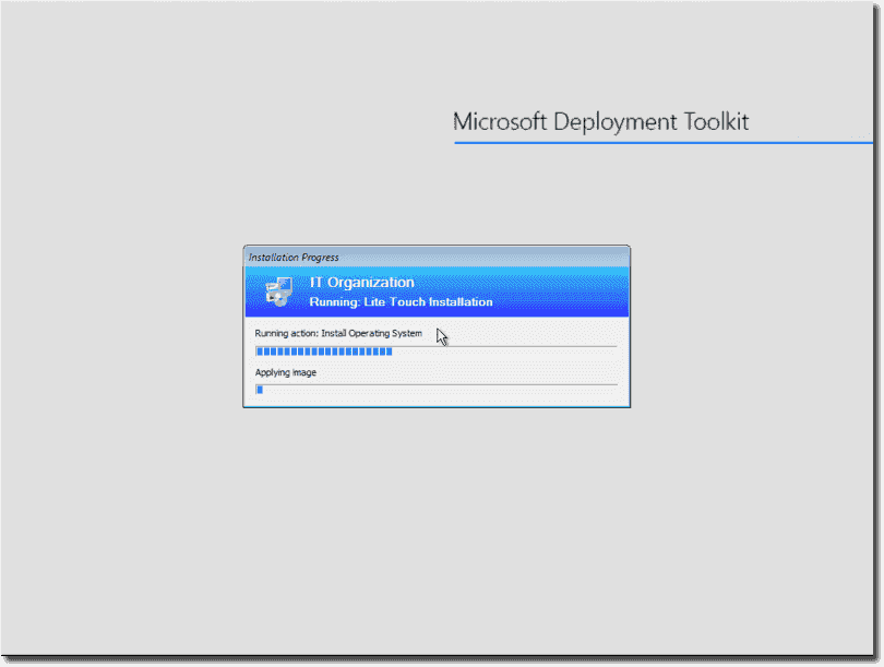Deploying an OS with the MDT
