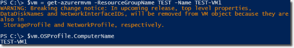Extracting the guest OS hostname from the Azure ARM VM
