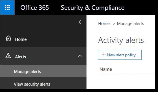 Manage alert policies