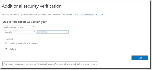 Protecting an admin account with MFA in Office 365