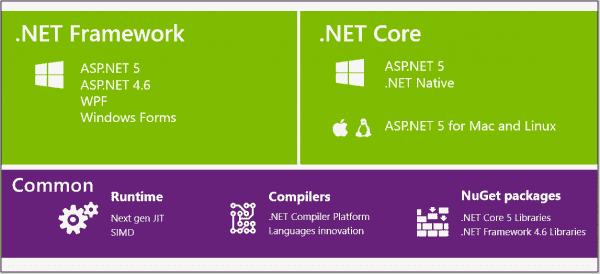 NET Core is a subset of the .NET Framework