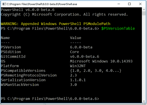 No future for Windows PowerShell—change to PowerShell Core
