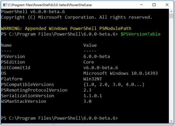 PowerShell automatically appends the path to existing modules