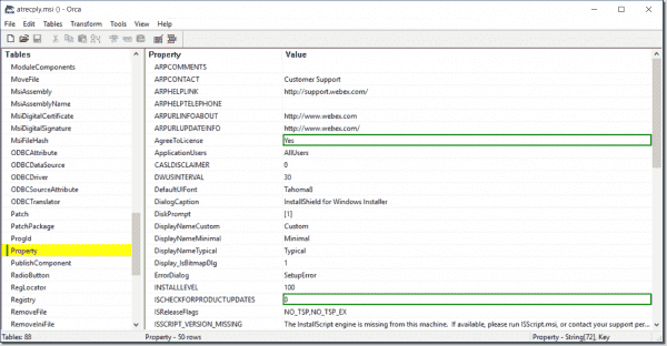 Edit an MSI file with the Orca MSI editor – 4sysops