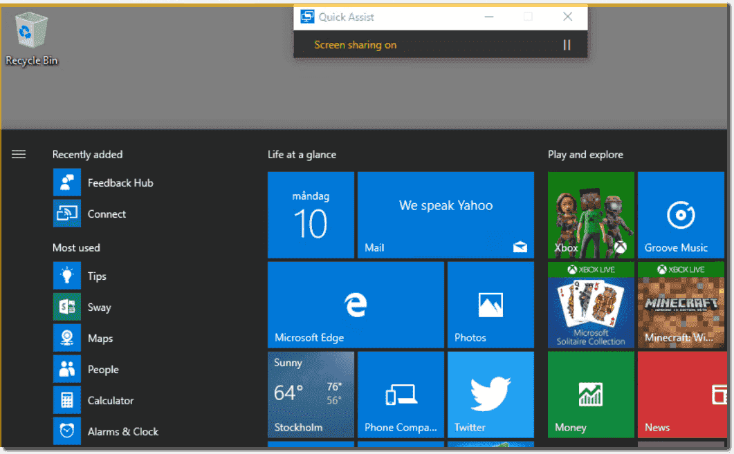 Remote control Windows 10 with Quick Assist – 4sysops