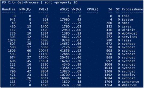 Sort data with PowerShell
