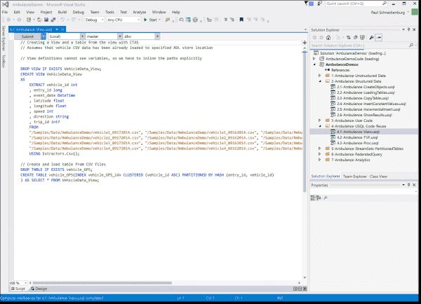 ADL tools in Visual Studio
