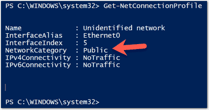 Displaying the network connection type with PowerShell
