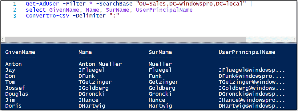 Create, sort and filter CSV files in PowerShell – 4sysops