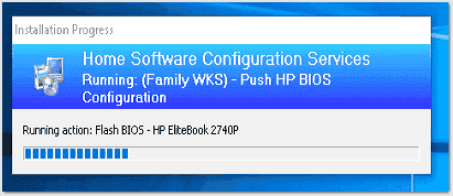 Flash BIOS HP EliteBook 2740P action