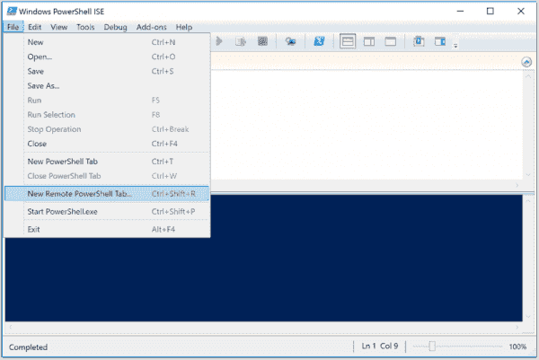 Opening a remote session in PowerShell ISE