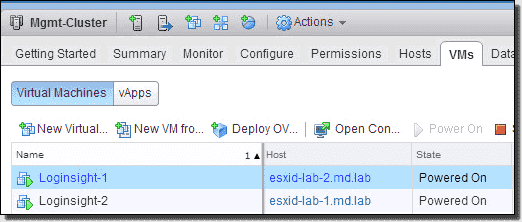 VM placement on ESXi hosts after the DRS affinity rule