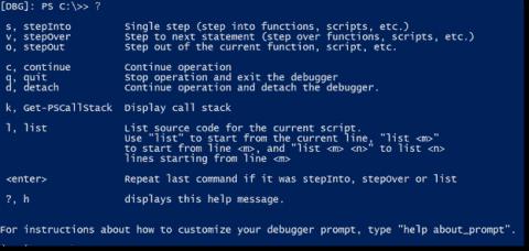 Debug PowerShell with the debugger