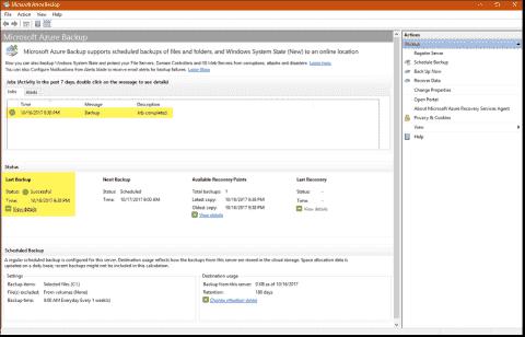 Azure Backup – Easily back up Windows to the cloud