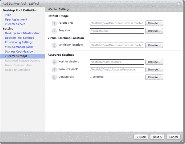 Configure the default image location and resource settings