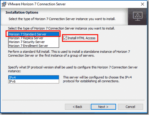Install VMware Horizon View Connection Server