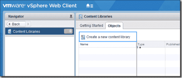Create a new content library