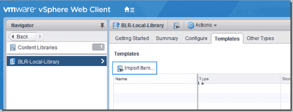 Import items into the content library