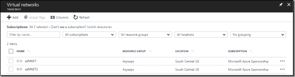 Multiple Vnets in Azure