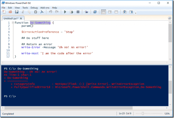 PowerShell returns an error
