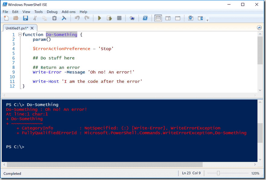 Try/catch/finally blocks in PowerShell for better error