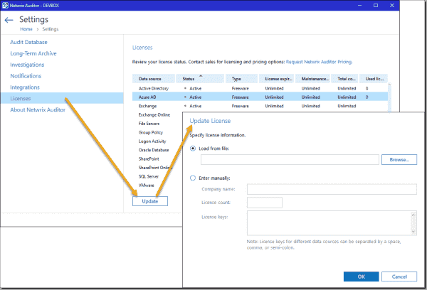 Upgrading Netwrix Auditor to the full version