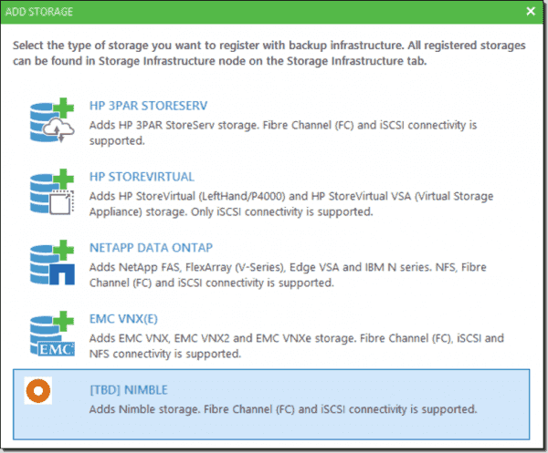 Veeam–Nimble Storage integration (image credit Veeam)
