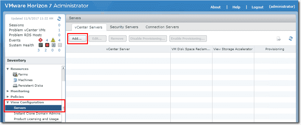 how to connect to vcenter server