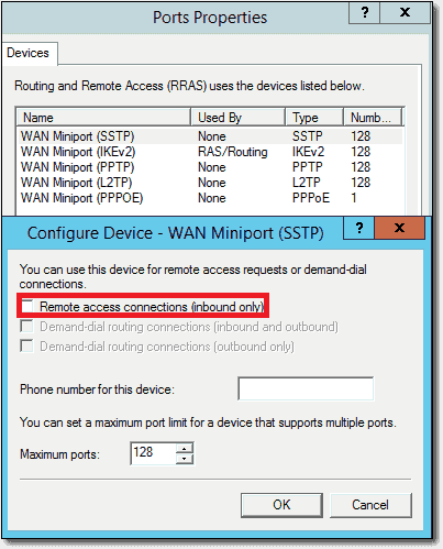 Allowing just IKEv2 for Always On VPN connections