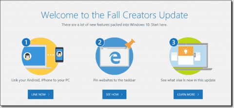 Windows 10 Fall Creators Update installation and features