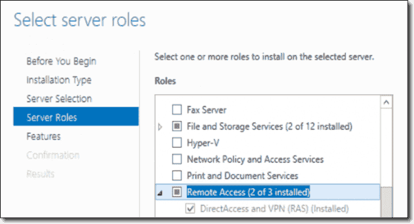 DirectAccess and the (Always On) VPN server roles
