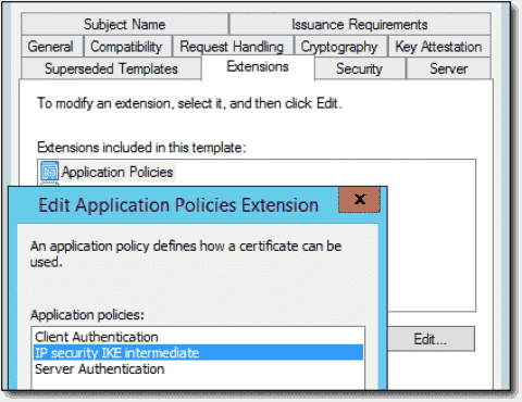 Active Directory, Group Policy, and certificates for Always On VPN