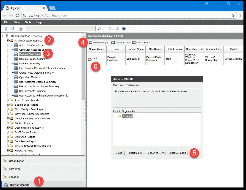 Generating a report