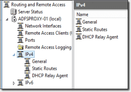 IPv4 and IPv6 settings on the Remote Access server