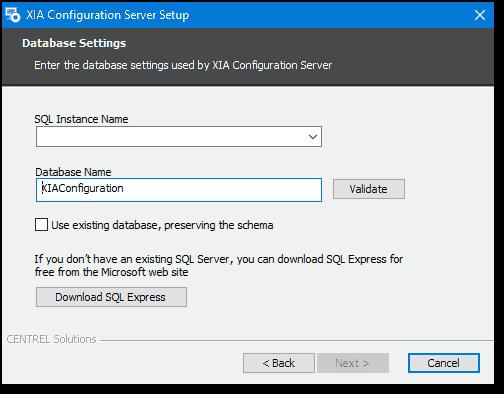 Installing XIA Configuration