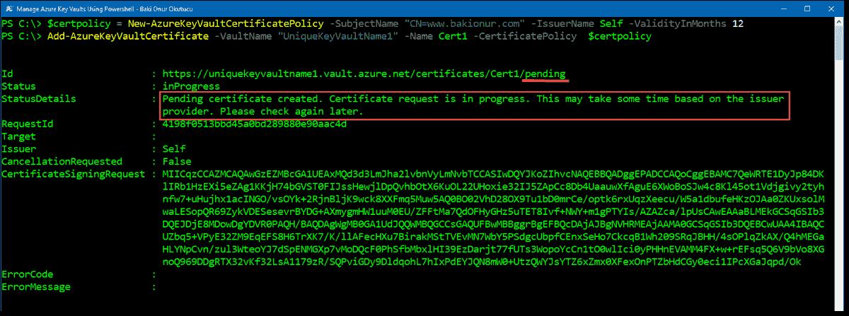 Managing Azure Key Vault Using Powershell 4sysops