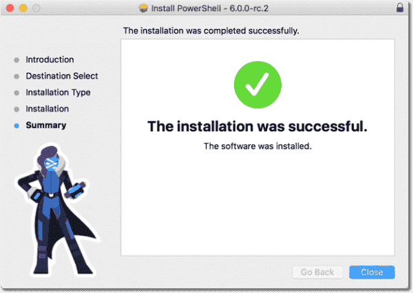 Installing the PowerShell Core PKG package on macOS