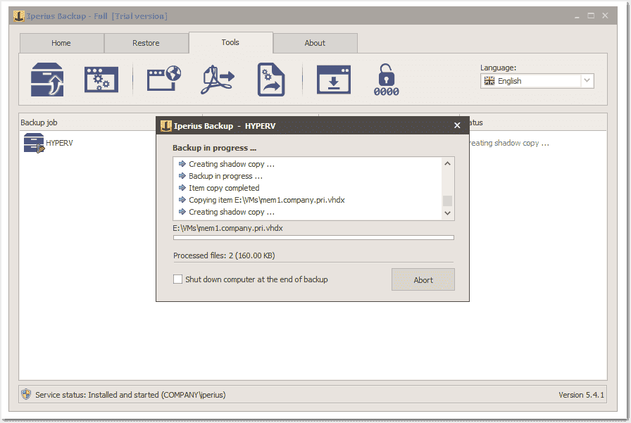 Iperius Backup VM – Affordable, intuitive, and flexible