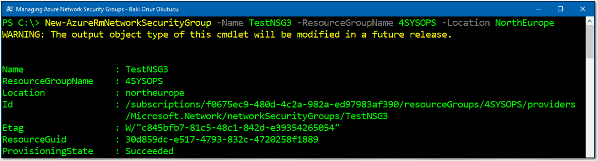 Create Azure network security groups (NSGs) with PowerShell