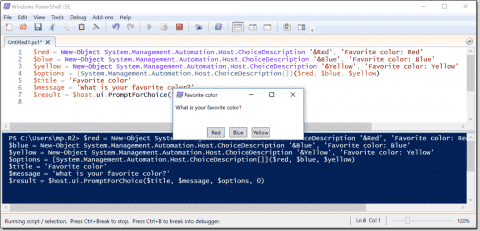 Read-Host and the ChoiceDescription class - Prompt for user input in PowerShell