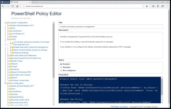 PowerShell Policy Editor