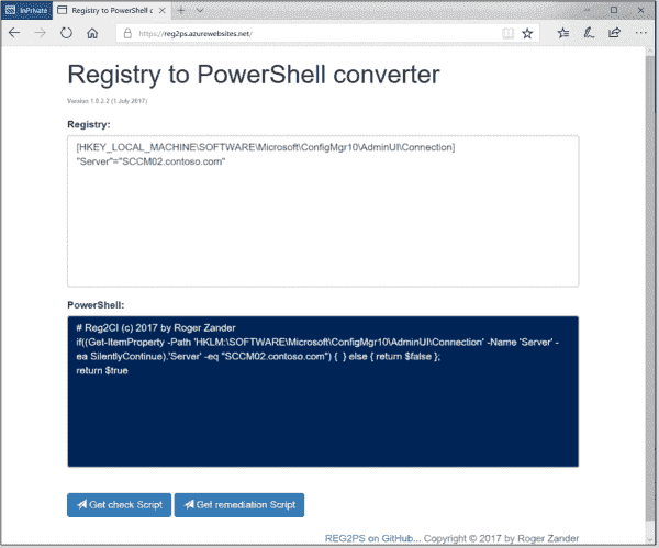 Registry to PowerShell converter