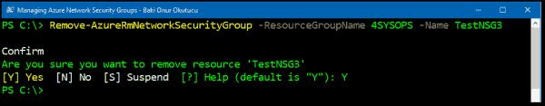 Removing an NSG