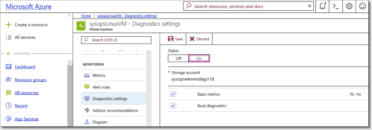 Troubleshooting access to an Azure VM that is not starting