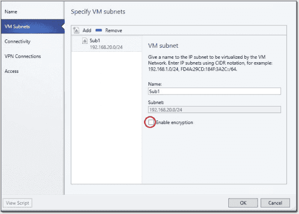 VM network encryption